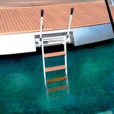 Indovinello: una barca ancorata ha una scaletta